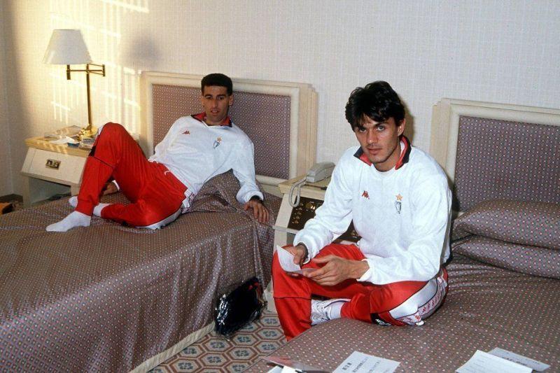 Paolo Maldini and Mauro Tassotti