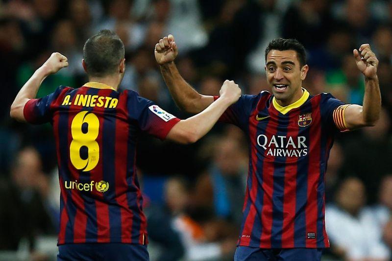 Xavi and Andres Iniesta