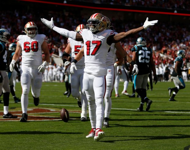Carolina Panthers versus San Francisco 49ers