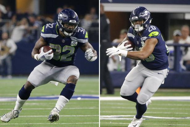 Seahawks Running Duo Football