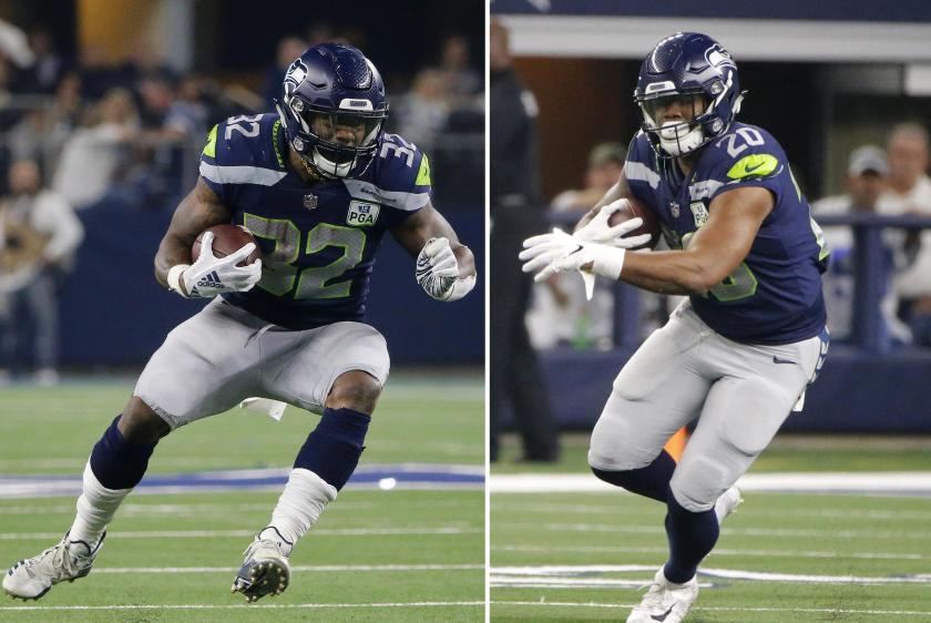 Seahawks Running Duo Football